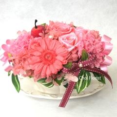 幸せを運ぶピンク系の花/ P324