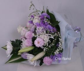 紫系の花束/B125
