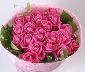 ピンクバラの花束/B095