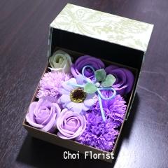 BOXソープフラワー 紫系/ SF97