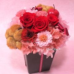 メロディー 赤ピンク系プリザーブド P395