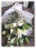 カサブランカとかすみ草のお供え花束 通夜・葬儀にも