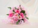 ブライダルピンクのブーケ風花束