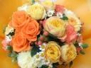 母の日バスケットアレンジ(イエロー)L