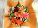 母の日バスケットアレンジ【オレンジ】M