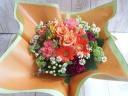 母の日バスケットアレンジ【オレンジ】L