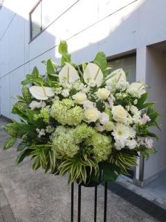 スタンド花ホワイト