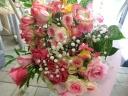 お祝花束ピンク系
