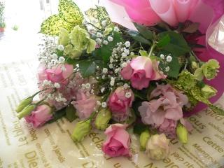 豪華なピンク系花束