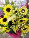 サンフラワー&リリー (お花束)