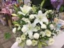 ホワイト系お供え花