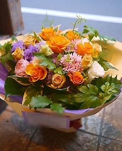 【お問い合わせ殺到】秋らしいオレンジ系bouquet