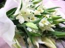 ホワイトの花束