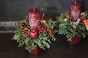 X'mas Candle Mini Arrangement!