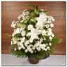 【 白いご供花アレンジメント】お線香のセット