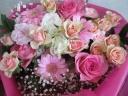 【スタンディングバッグ 】ピンク花束