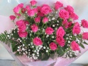 【ピンクバラ 】花束