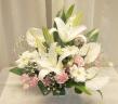 やさしく上品な供花(白・ピンク系)0256
