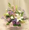 やさしく上品な供花(白・パープル系)0255