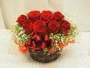 上質な赤バラ使用!上品で豪華なアレンジ0262