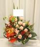 ピンクのバラ入りの大人なアレンジ0273