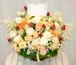 4種のバラで優しくて豪華なアレンジ♪(0438)