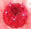 真っ赤なカーネーションケーキフラワー♪0492