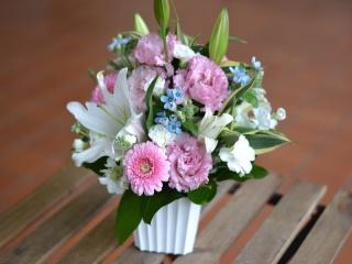 ワンダフルピンク!:お花贈られたら嬉しいな!