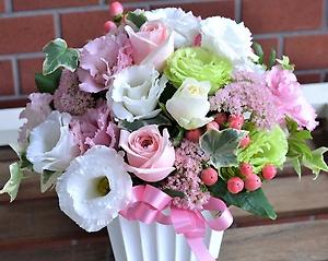 お花で幸せ贈ります:Happyアレンジメント