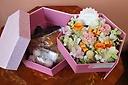 *母の日限定*プリザとお菓子のセット【Orange】
