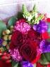 赤いバラの大人色ブーケ