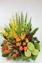 お祝い花・豪華アレンジメントフラワーS2/GRO
