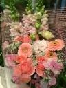 やわらかピンクのお花束♪