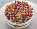 ケーキのようなお花の鉢植え セロシアキャンドルケー