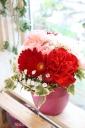 お花と一緒にオーガニック・フラワードレッシング