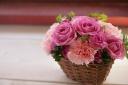 お母さんへお花で癒されお風呂でリラックス