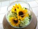 涼し気夏のギフト ガラスの中の花畑
