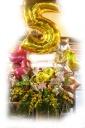 バルーンいっぱいスタンド花