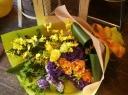 イエローパープル豪華花束
