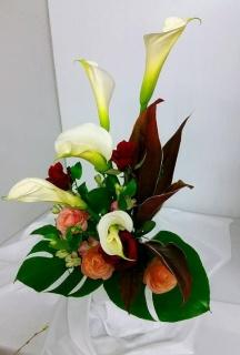 カラーの花束