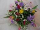 チューリップとスイートピーの花束