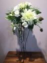 造花 スタンド花 ホワイト
