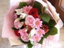 ロングステム花束「Red・Pink」