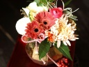 迎春アレンジ「シルキィ・ピンク」