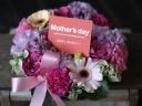 母の日 アレンジメント 「ローズピンク・リース」