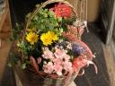母の日 寄せ鉢 「Gardenバスケット」