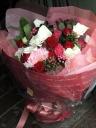 レッド&ピンクで華やかに!大きめ花束