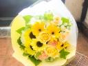 イエロー系 爽やかな向日葵のブーケ