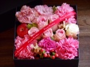 BOXアレンジメント ピンク系