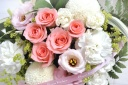 お供え バラのアレンジメント ピンク系